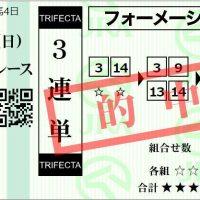 2.9東京2R3連単フォーメーション